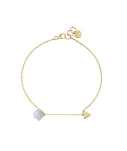 bracelet with chain and blu calchedony