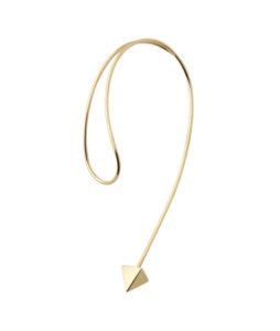 curved drop-shaped earring