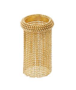 anello con frangia lunga di catene