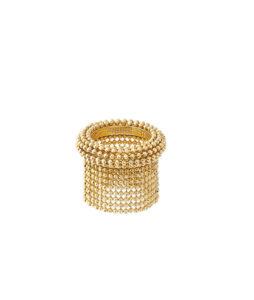anello da falange con catene corte