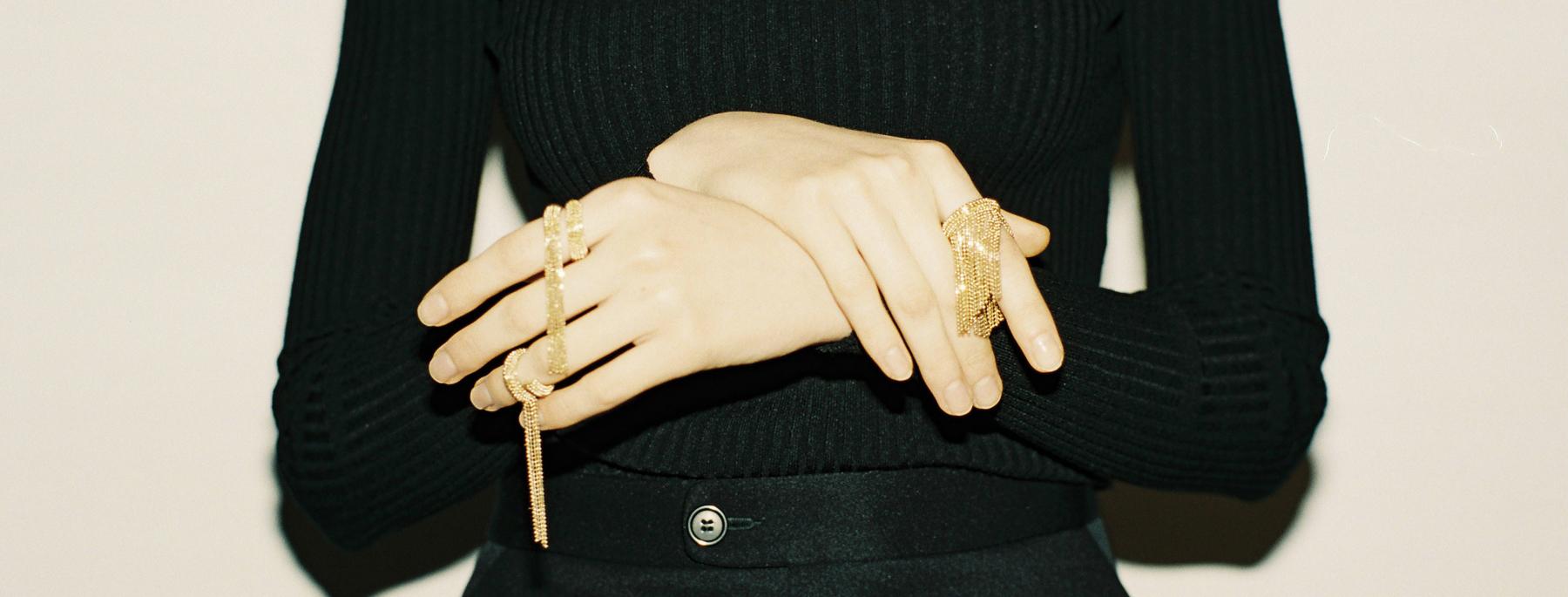 gioielli donna con catene diamantate