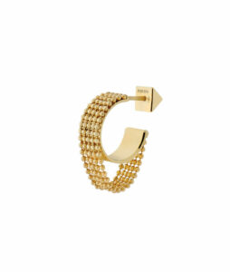 Small c-shaped earring with chains