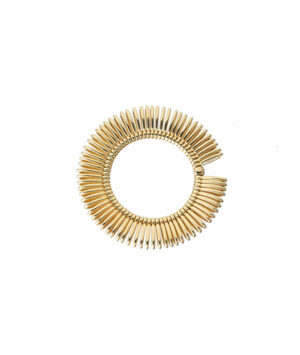 Round ring in yellow gold
