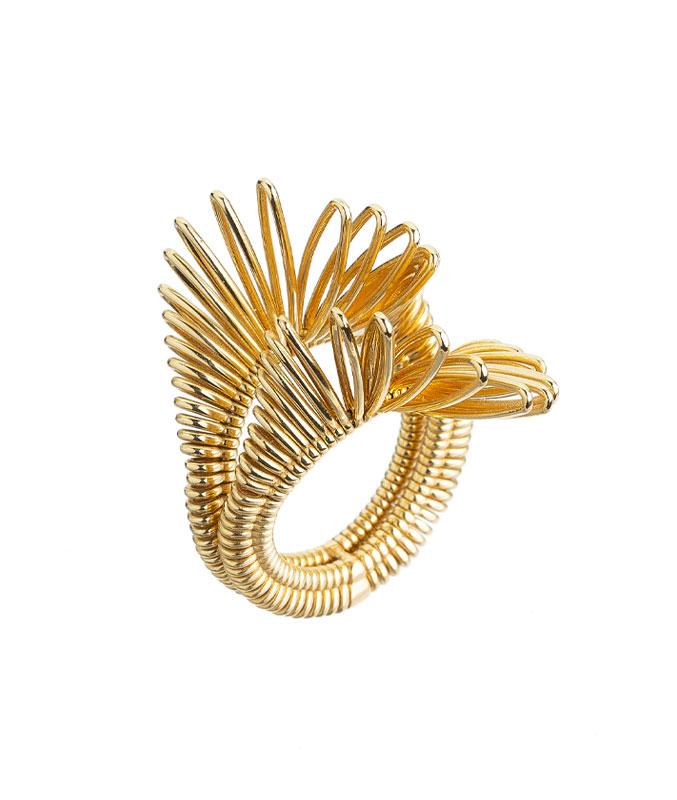 Anello doppio in oro giallo