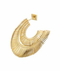orecchino doppio in oro giallo