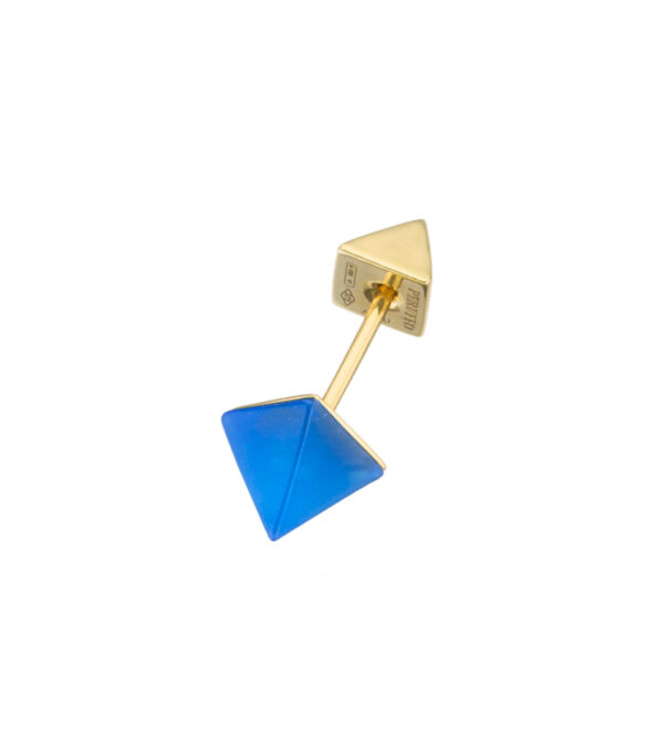 Orecchino piercing singolo blue agate