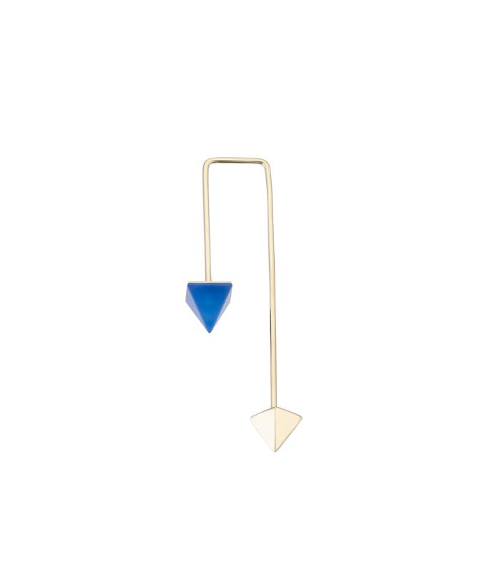 orecchino pendente dritto blue agate