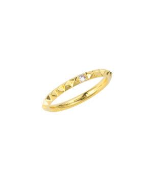 anello fedina con micro studs