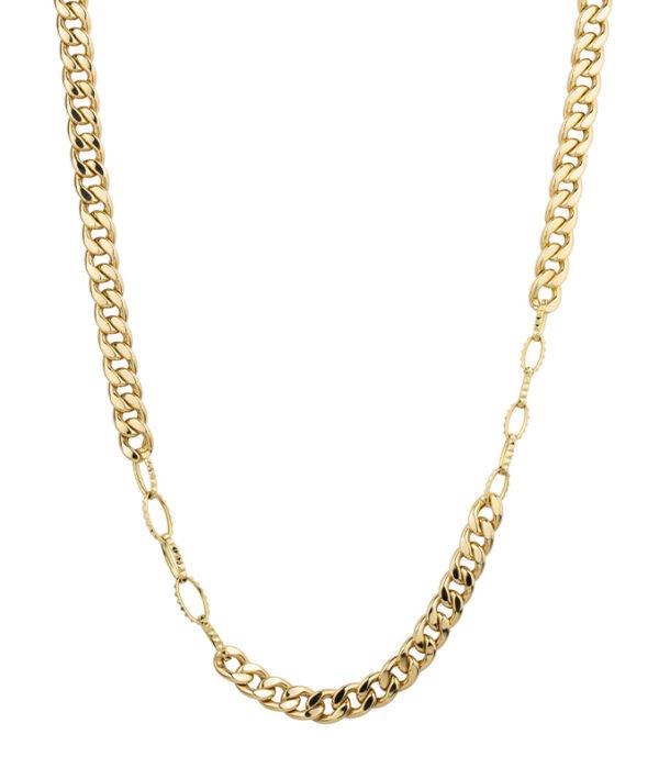 collana con stud in oro giallo