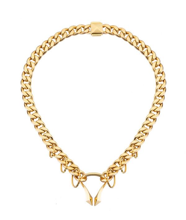 collana corta con catena