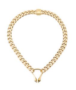 collana corta in oro giallo