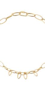 collana con ciondoli in oro giallo